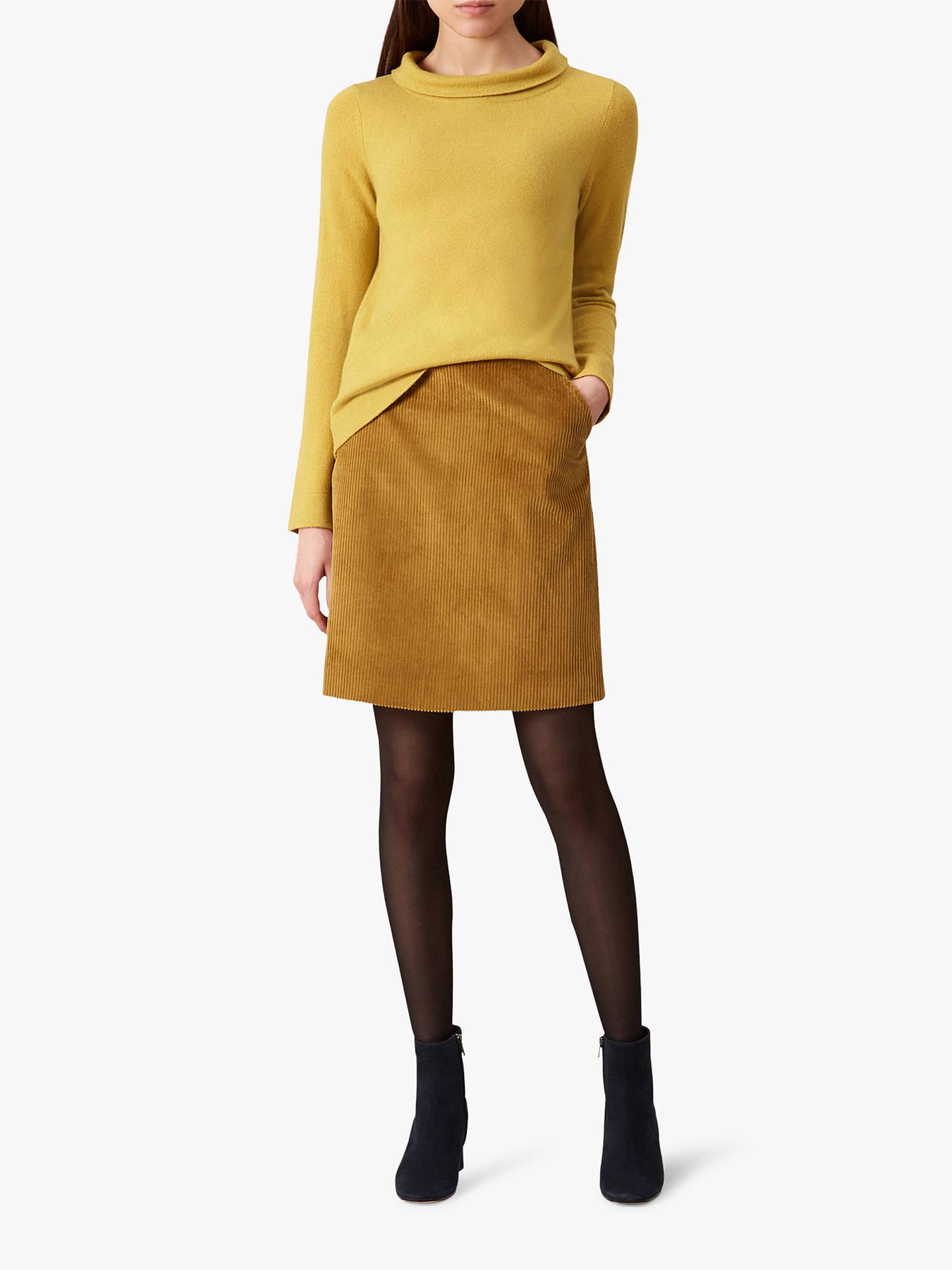 0dbd5482252b67 Buy Hobbs Hannah Cord Skirt, Mustard, 12 Online at johnlewis.com ...