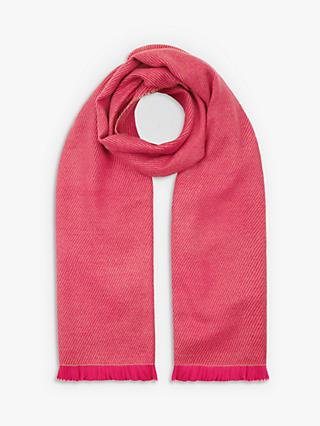 Hobbs Willow Knit Scarf, Pink Carmel