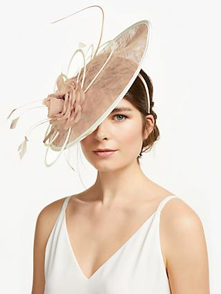 ec575ddb67c John Lewis   Partners Blair Flower and Quills Disc Occasion Hat