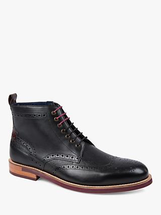 Ted Baker Hjenno Brogue Boots, Black
