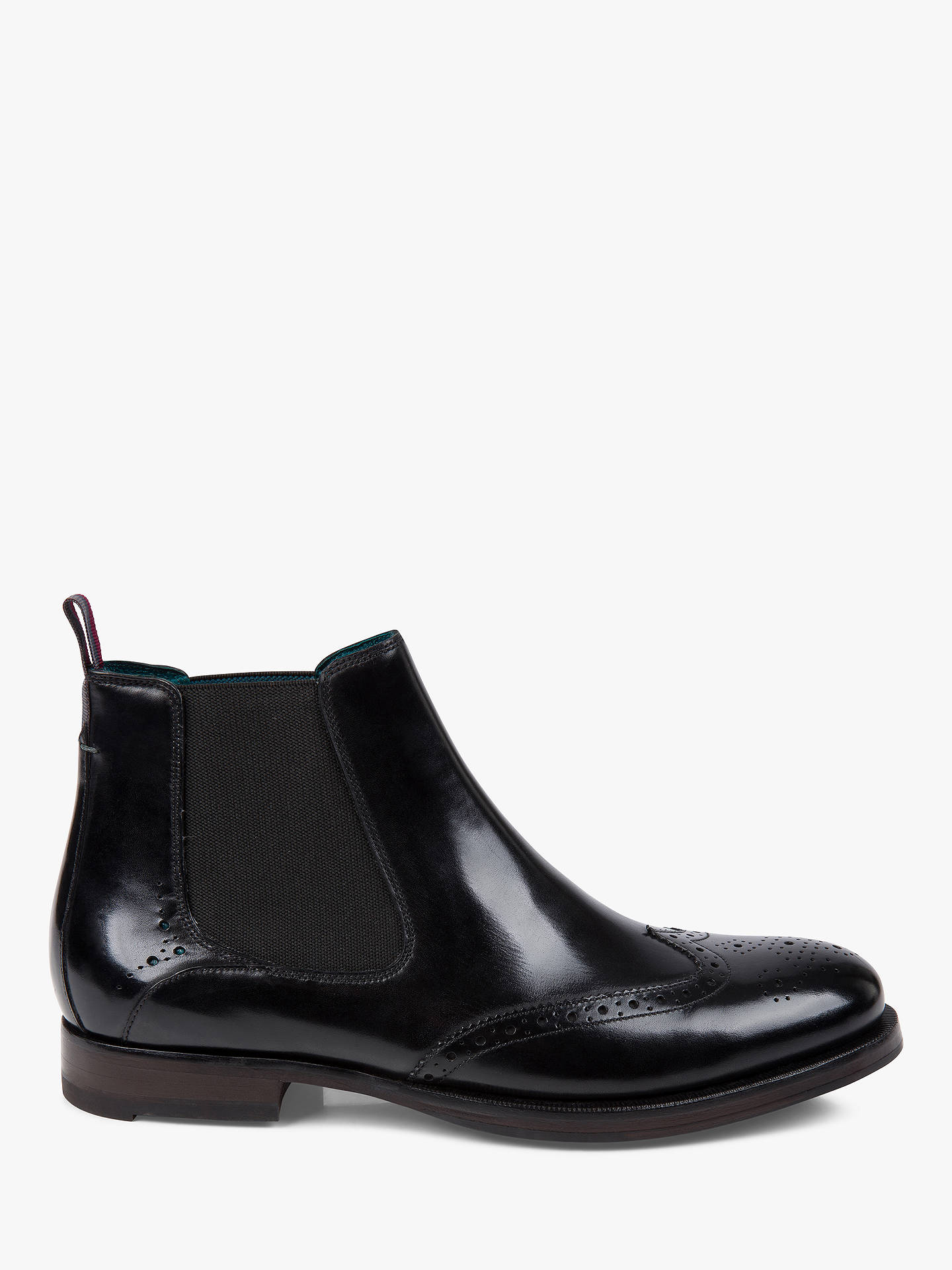 Buy Ted Baker Camheri Brogue Chelsea Boots, Black, 9 Online at johnlewis.com