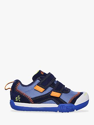 Skechers Children's Flex Play Double Duty Trainers, Navy/Multi