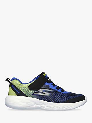 Skechers Children's Go Run 600 Farrox Trainers, Blue/Lime