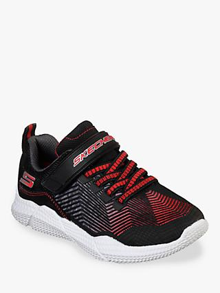 Skechers Children's Intersectors Protofuel Trainers, Black/Red