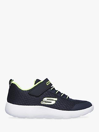 Skechers Children's Dyna Lite 98120L Trainers, Navy/Lime