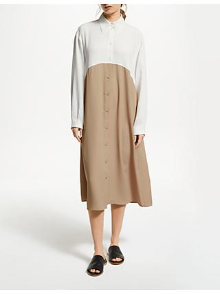Modern Rarity J. JS Lee Midi Shirt Dress, Natural