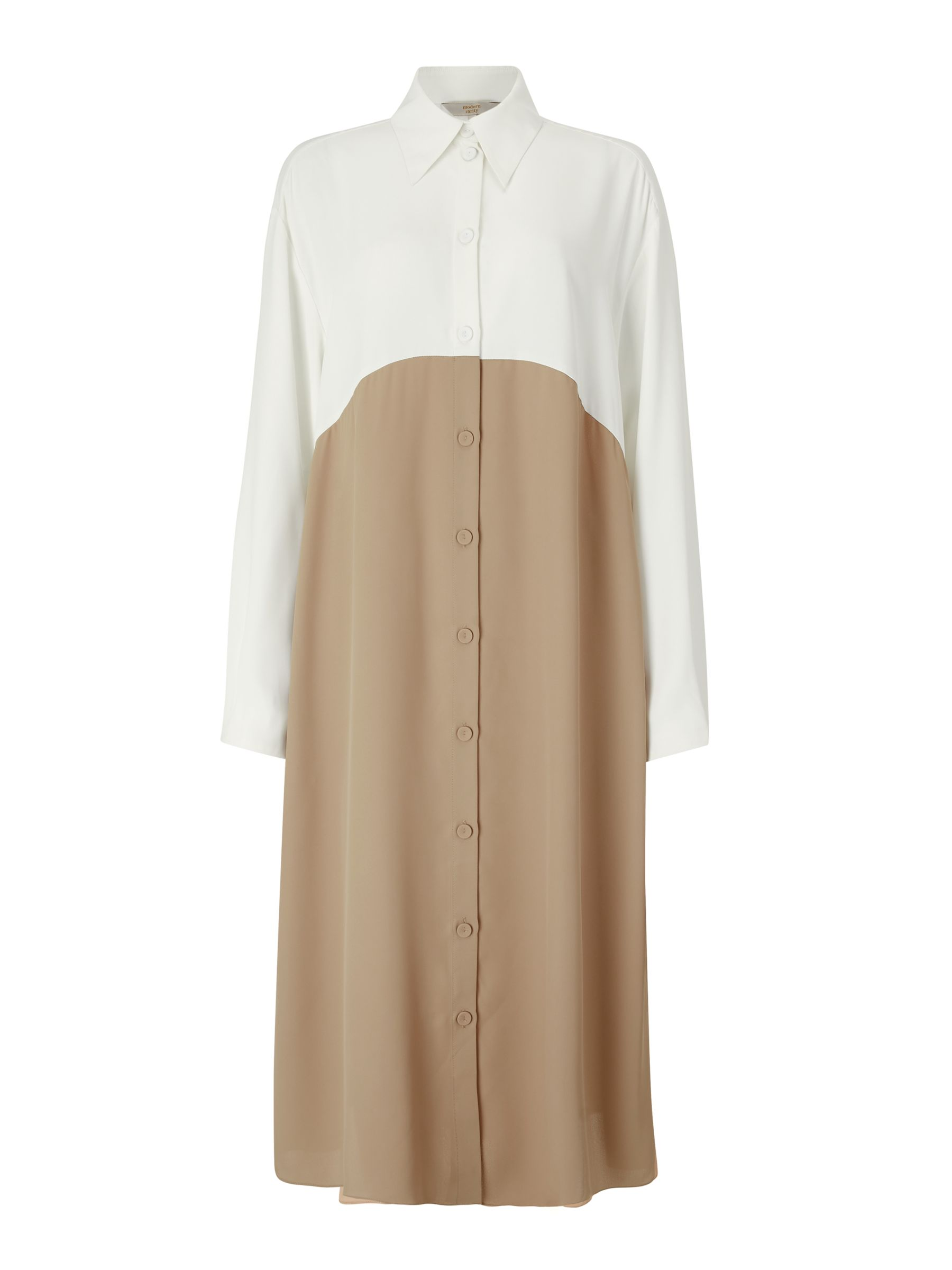 BuyModern Rarity J. JS Lee Midi Shirt Dress, Natural, 8 Online at johnlewis.com