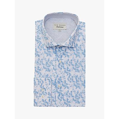 Ted Baker Corael Floral Print Shirt, Blue