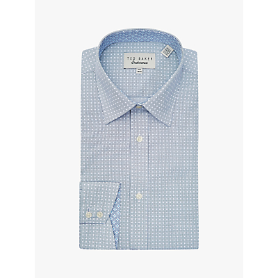Ted Baker Angalsh Spot Square Shirt, Navy