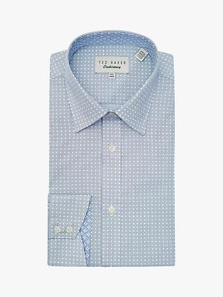 Ted Baker Angalsh Spot Square Shirt, Navy
