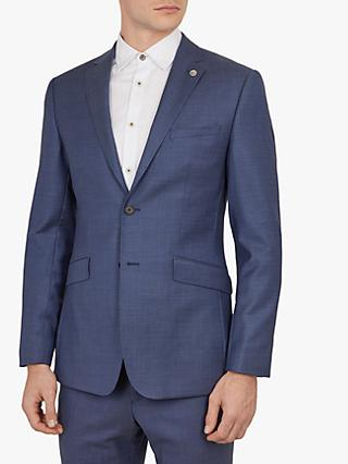 Ted Baker Fuzion Birdseye Wool Tailored Suit Jacket, Blue