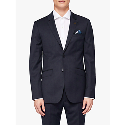 Ted Baker Timzon Wool Tailored Suit Jacket, Navy