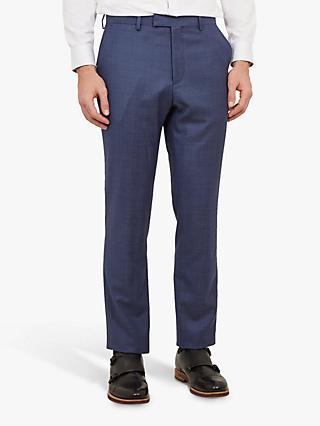 Ted Baker Fuzion Birdseye Wool Tailored Suit Trousers, Blue