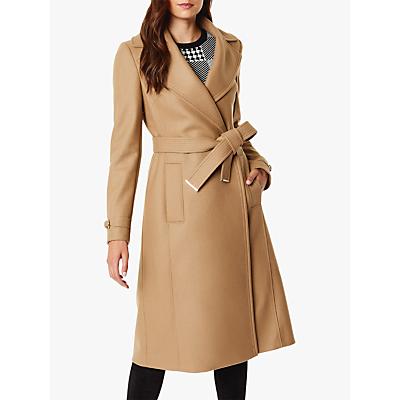 Karen Millen Belted Trench Coat, Camel
