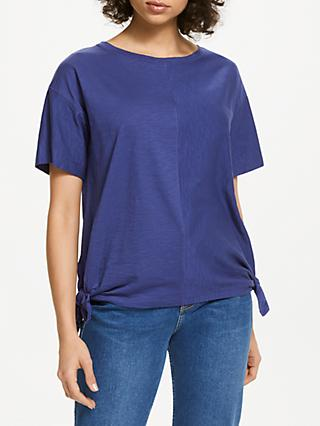AND/OR Side Ties T-Shirt, Blue