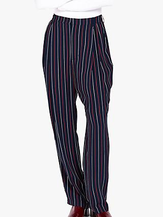 Ghost Stripe Lexi Trousers, Black Multi