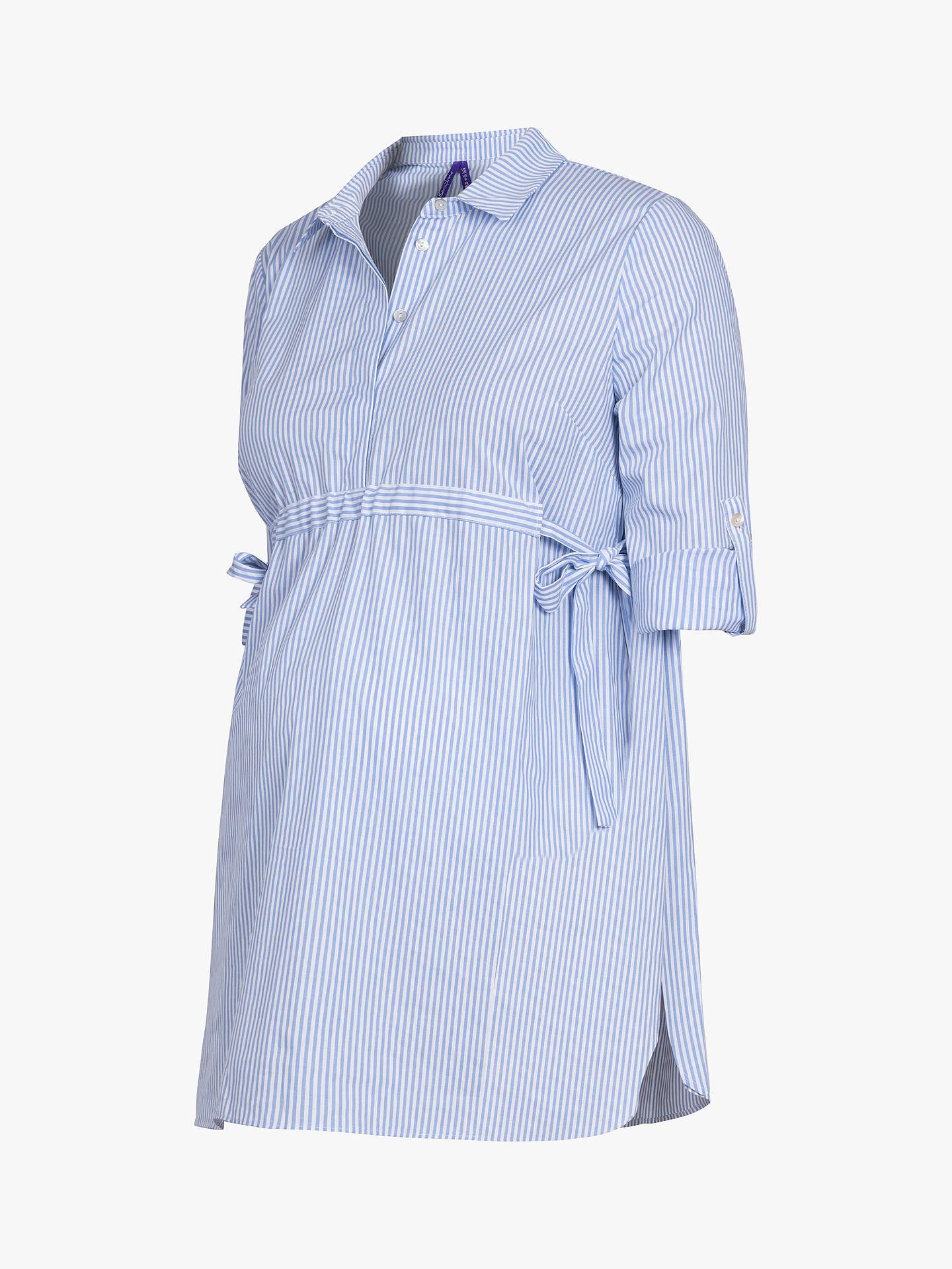 6b4413971df19a ... Buy Séraphine Hermia Striped Maternity Shirt, Blue Stripe, 12 Online at  johnlewis.com