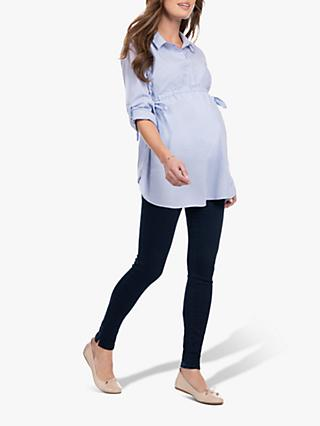 Séraphine Hermia Striped Maternity Shirt, Blue Stripe