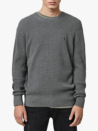 AllSaints Wells Textured Crew Jumper
