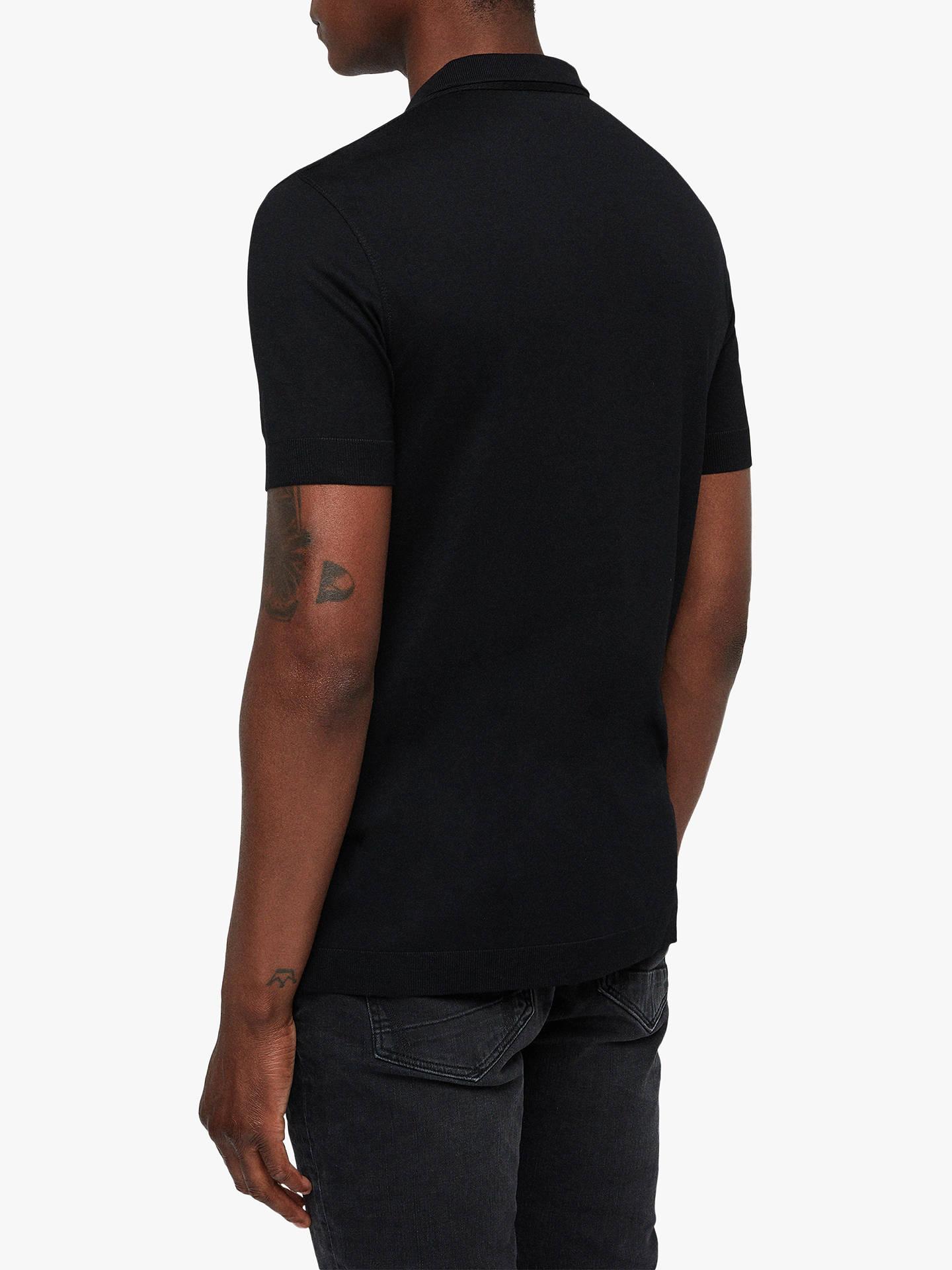 728dcf31 ... Buy AllSaints Parlour Short Sleeve Polo Shirt, Black, XS Online at  johnlewis.com ...