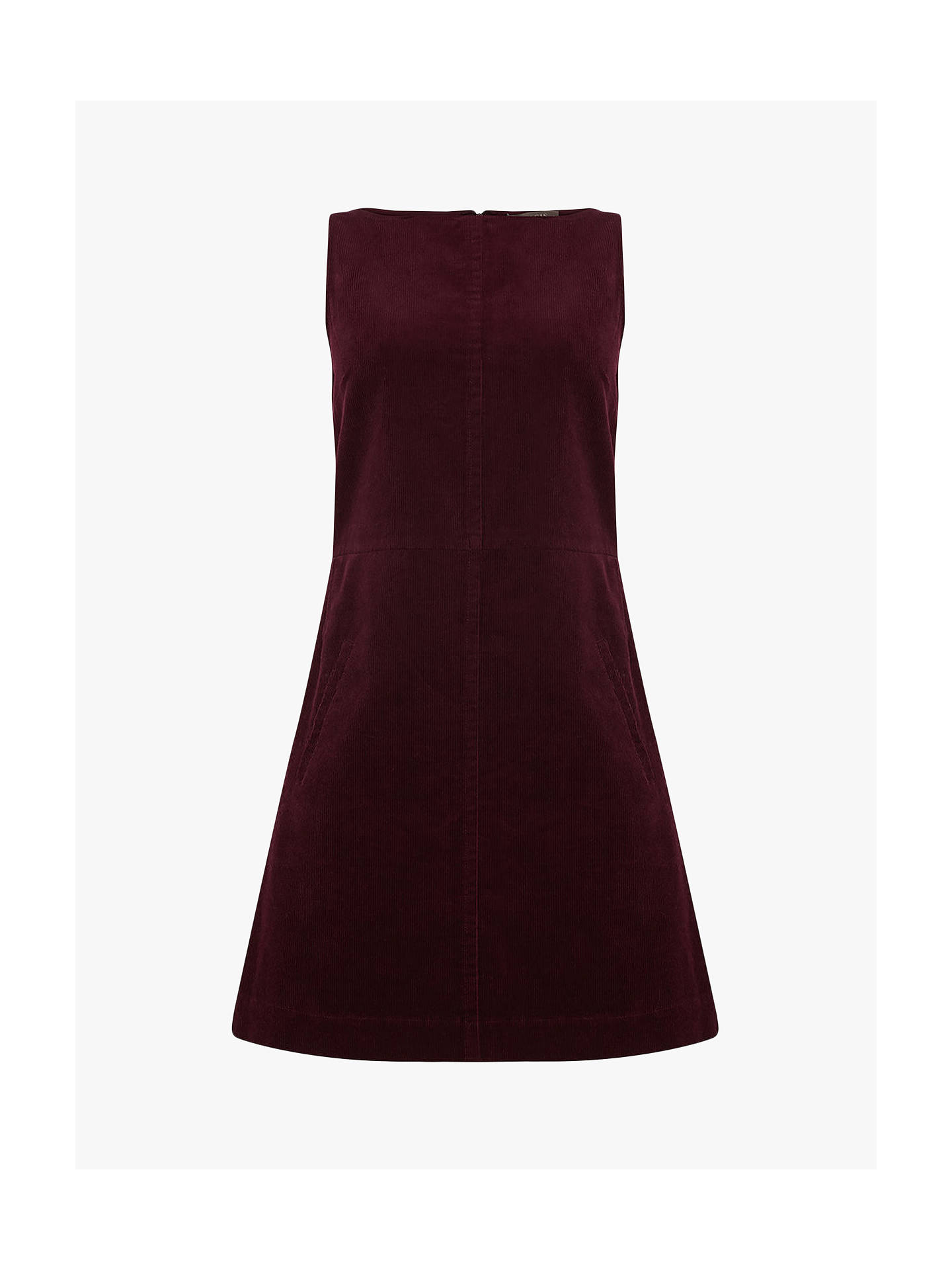 perfect quality how to choose search for latest Oasis Slash Neck Cord Dress, Burgundy at John Lewis & Partners