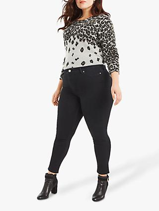 Oasis Curve Lily Skinny Jeans, Black