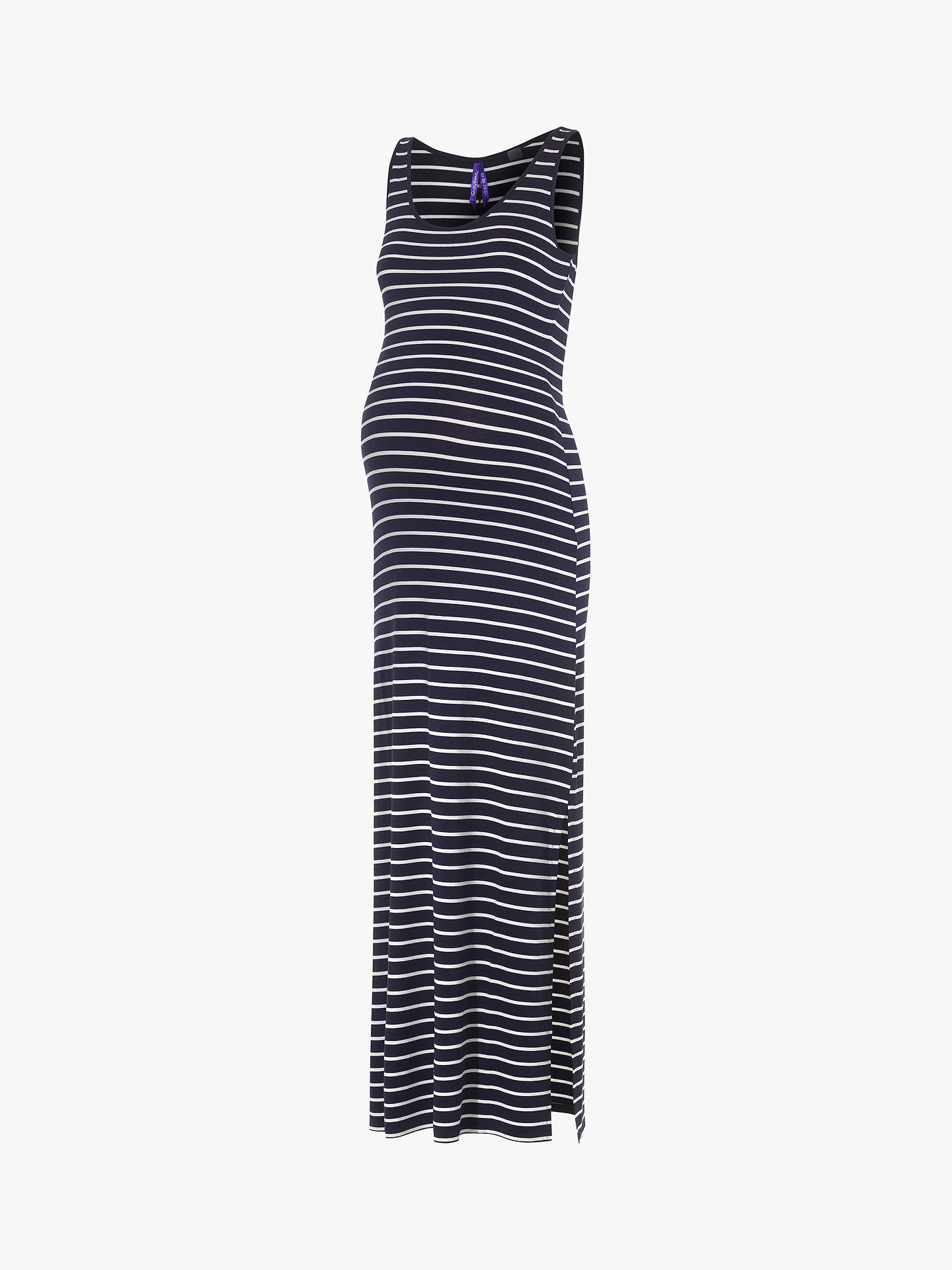 288f9757004 ... Buy Séraphine Magda Stripe Maxi Dress, Blue, 14 Online at johnlewis.com