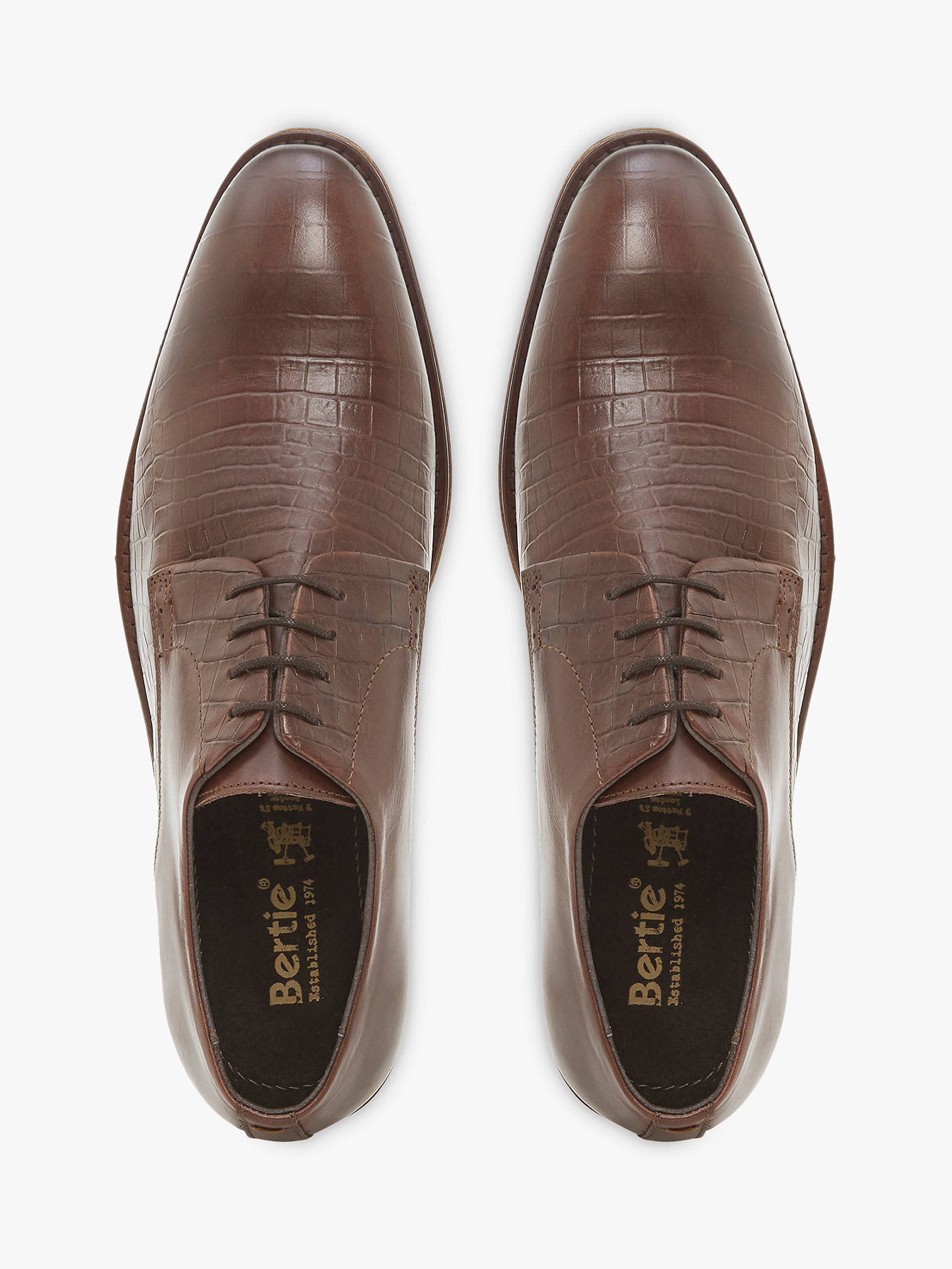BuyBertie Portt Textured Derby Shoes, Brown, 6 Online at johnlewis.com