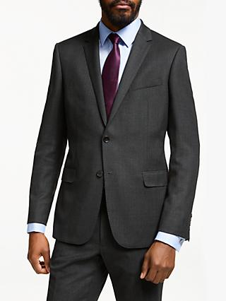 John Lewis & Partners Birdseye Wool Suit Jacket, Charcoal