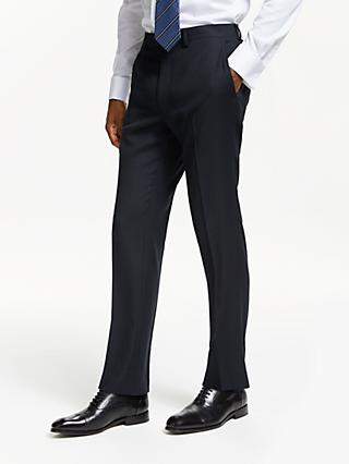 John Lewis & Partners Birdseye Wool Slim Fit Suit Trousers, Navy
