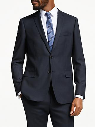 John Lewis & Partners Birdseye Wool Suit Jacket, Navy