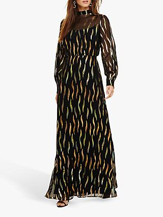 Phase Eight Shimmer Maxi Dress, Black