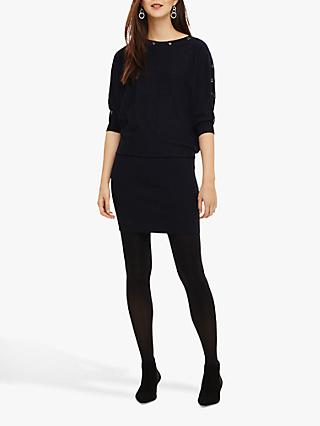 Phase Eight Becca Eyelet Dress, Navy
