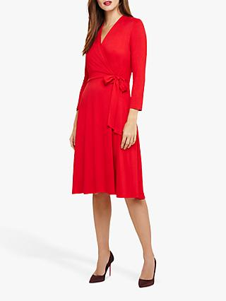 Phase Eight Wendelin Wrap Bodice Dress, Red