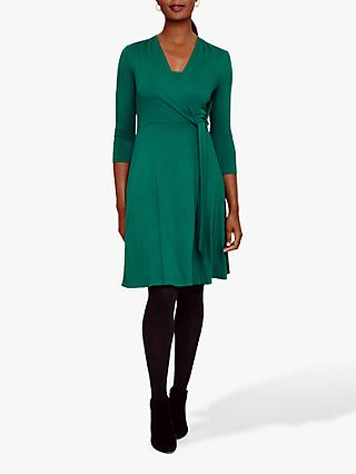 Phase Eight Wendelin Wrap Bodice Dress, Laurel