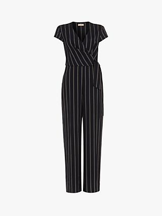Phase Eight Remee Stripe Jumpsuit, Navy/Multi