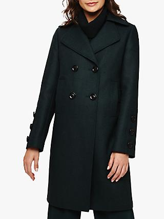 Phase Eight Betsie Button Cuff Coat, Forest