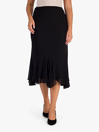Chesca Curved Skirt, Black