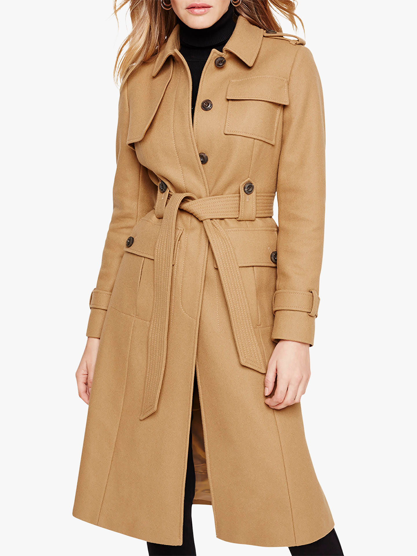 37081324bd Buy Damsel in a Dress Eleni Belted Trench Coat, Camel, 12 Online at  johnlewis ...
