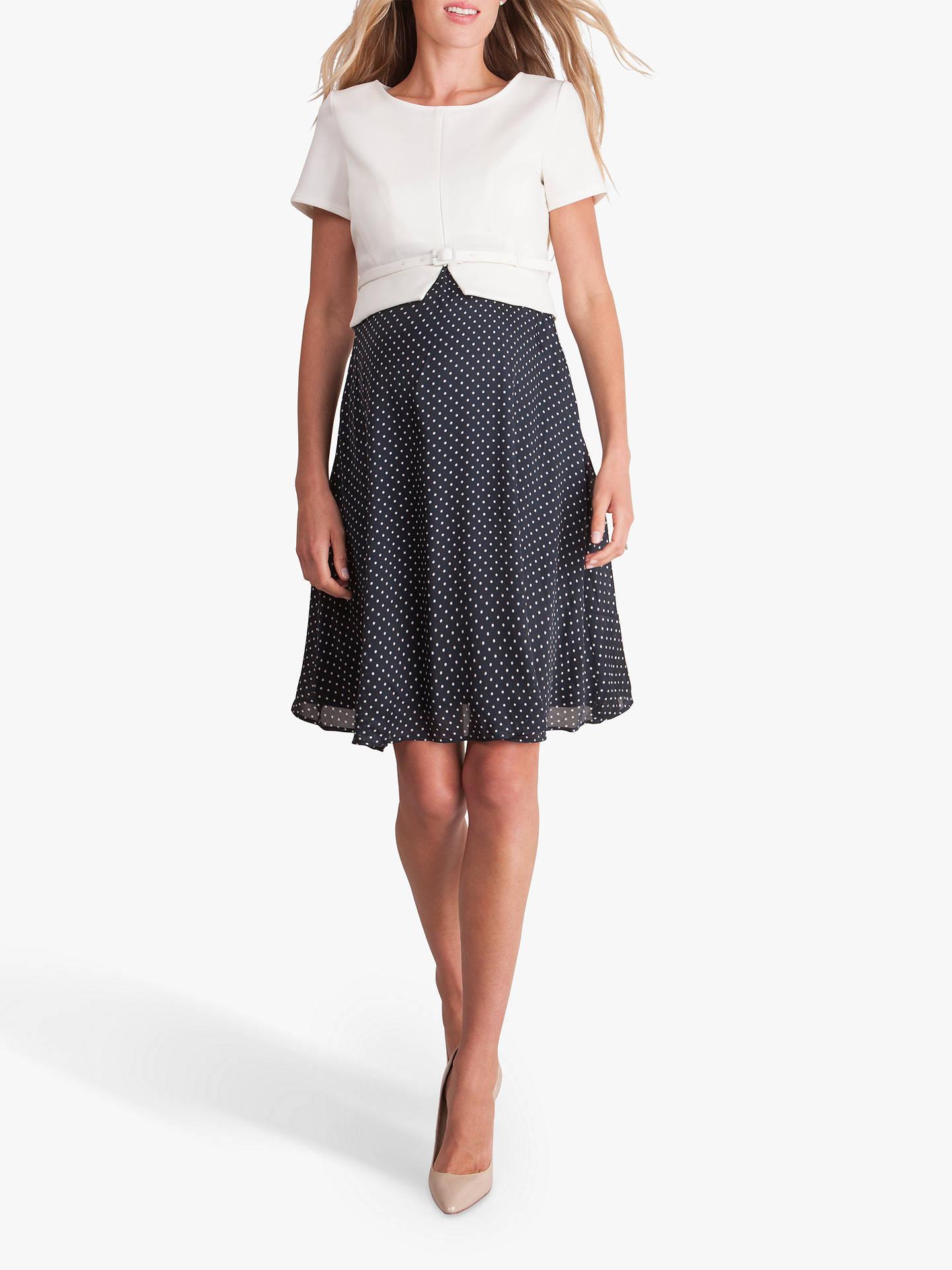 a6454d582a14d Buy Séraphine Jill Two Piece Maternity Nursing Dress, Ivory/Navy, 8 Online  at ...
