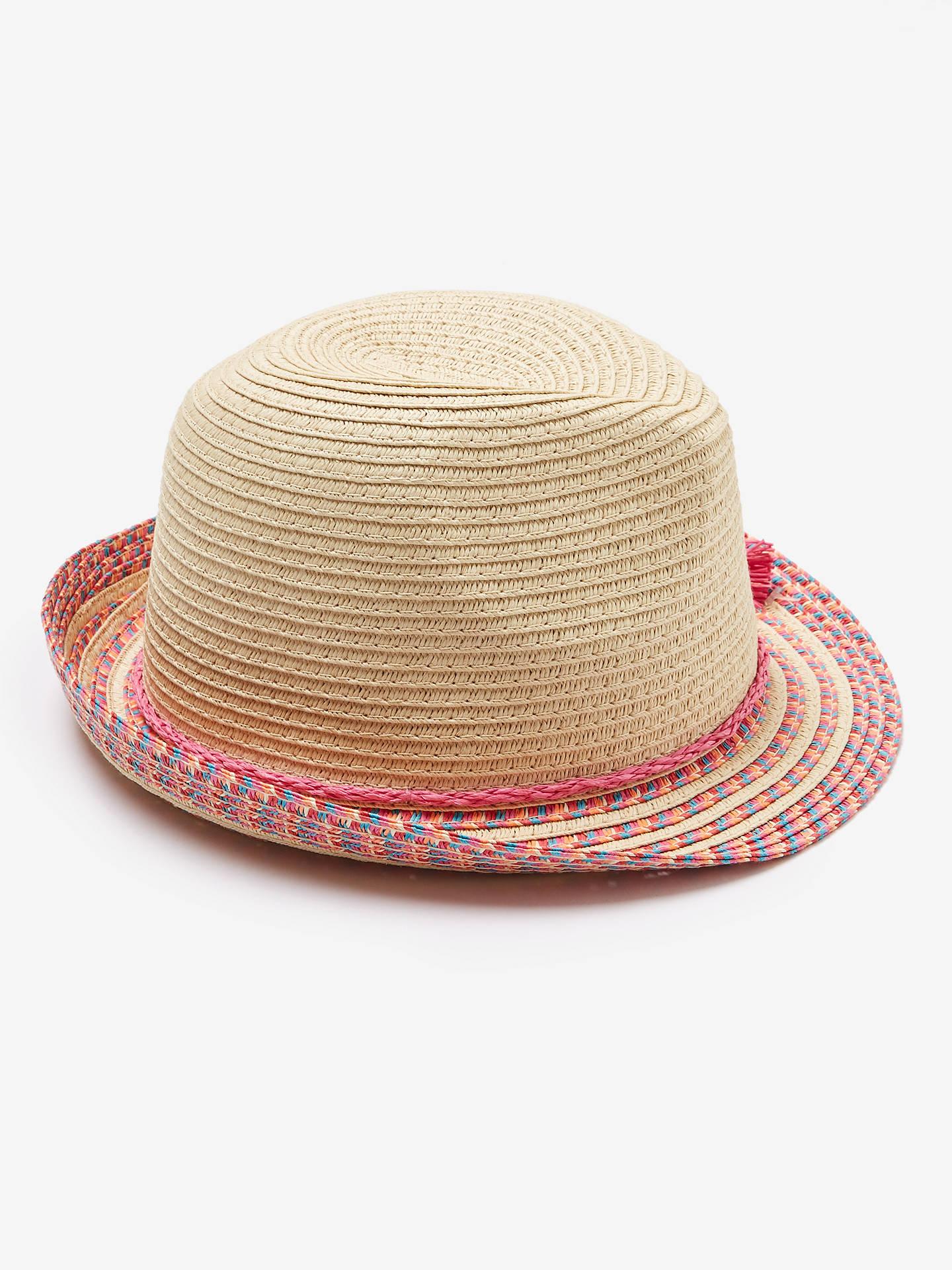8e1a170ebb52f5 ... Buy John Lewis & Partners Children's Straw Trilby Woven Hat,  Neutral/Multi, 6