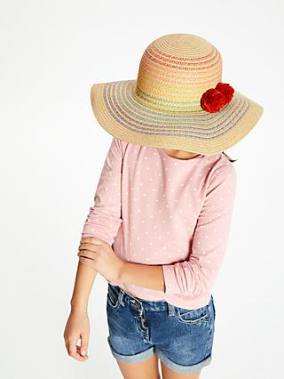 John Lewis & Partners Children's Rainbow Straw Hat, Neutral