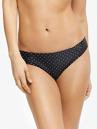 81116a0eff4 John Lewis   Partners Mono Pin Dot Ruched Bikini Briefs