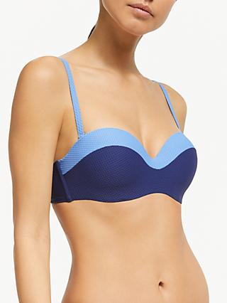 a6054a927e John Lewis & Partners Paradise Lost Colour Block Bandeau Bikini Top
