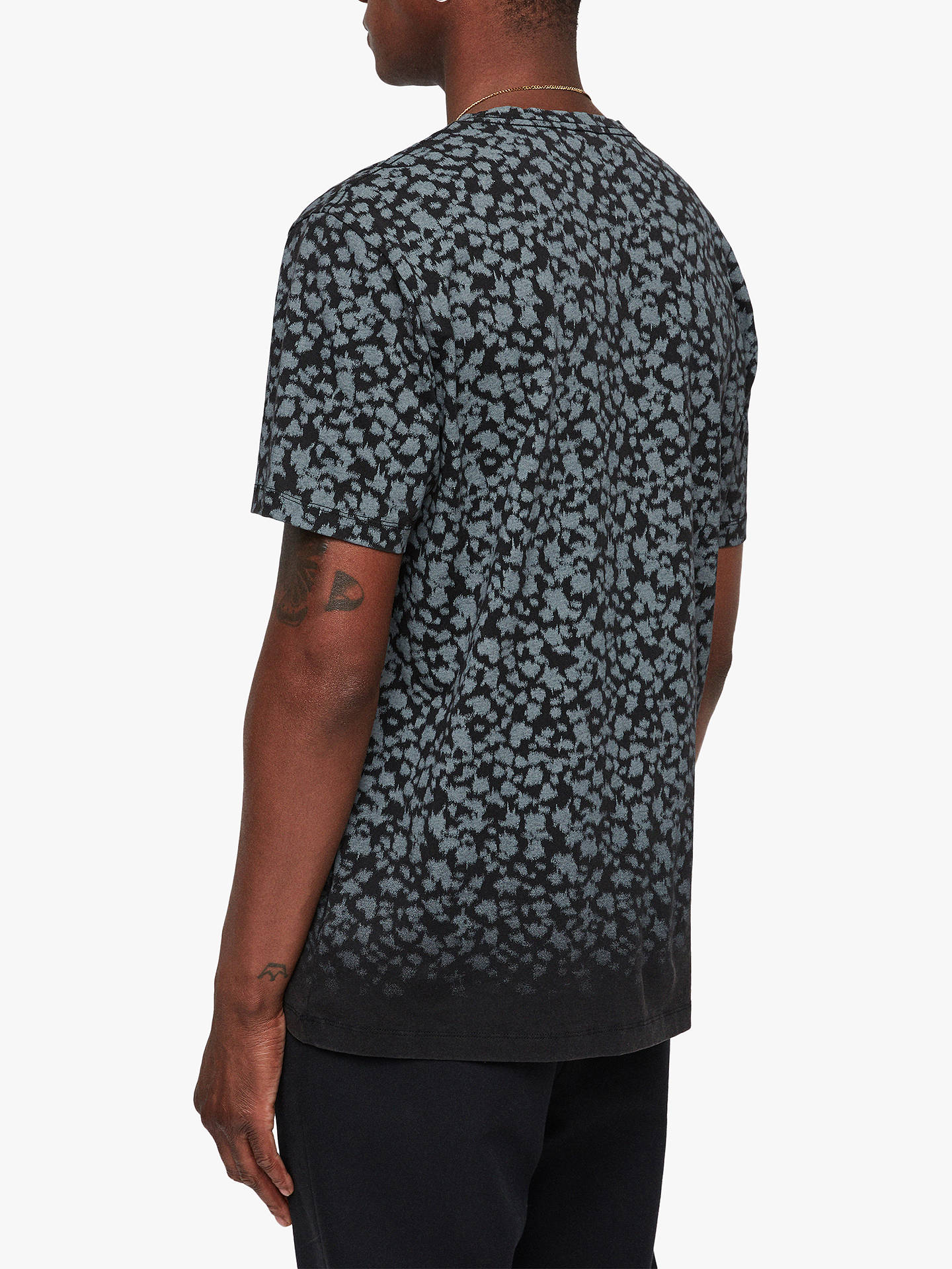 Buy AllSaints Sigfried Animal Camo T-Shirt, Vintage Black, M Online at johnlewis.com