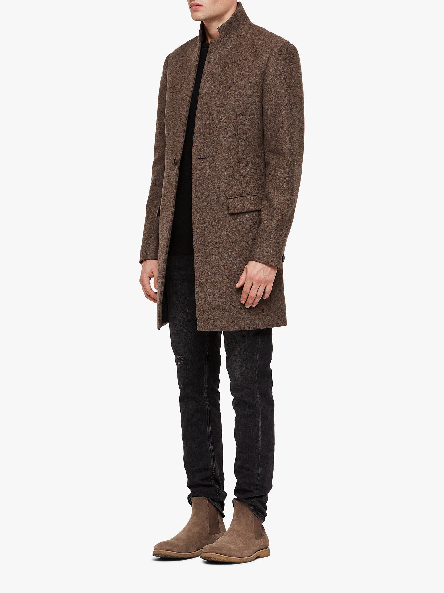 BuyAllSaints Bodell Coat, Ash Brown, 34R Online at johnlewis.com