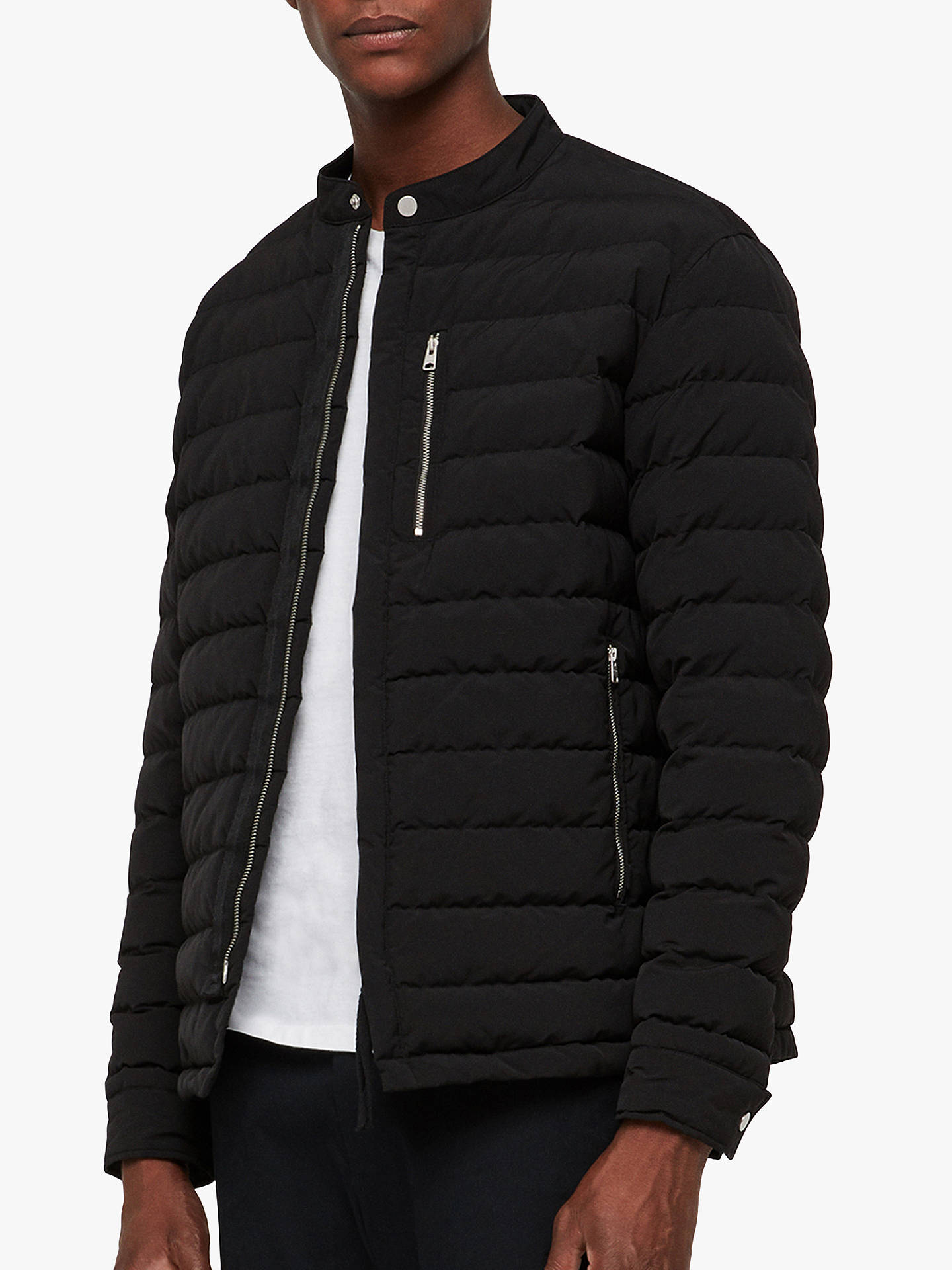 Buy AllSaints Okuno Puffer Jacket, Black, L Online at johnlewis.com