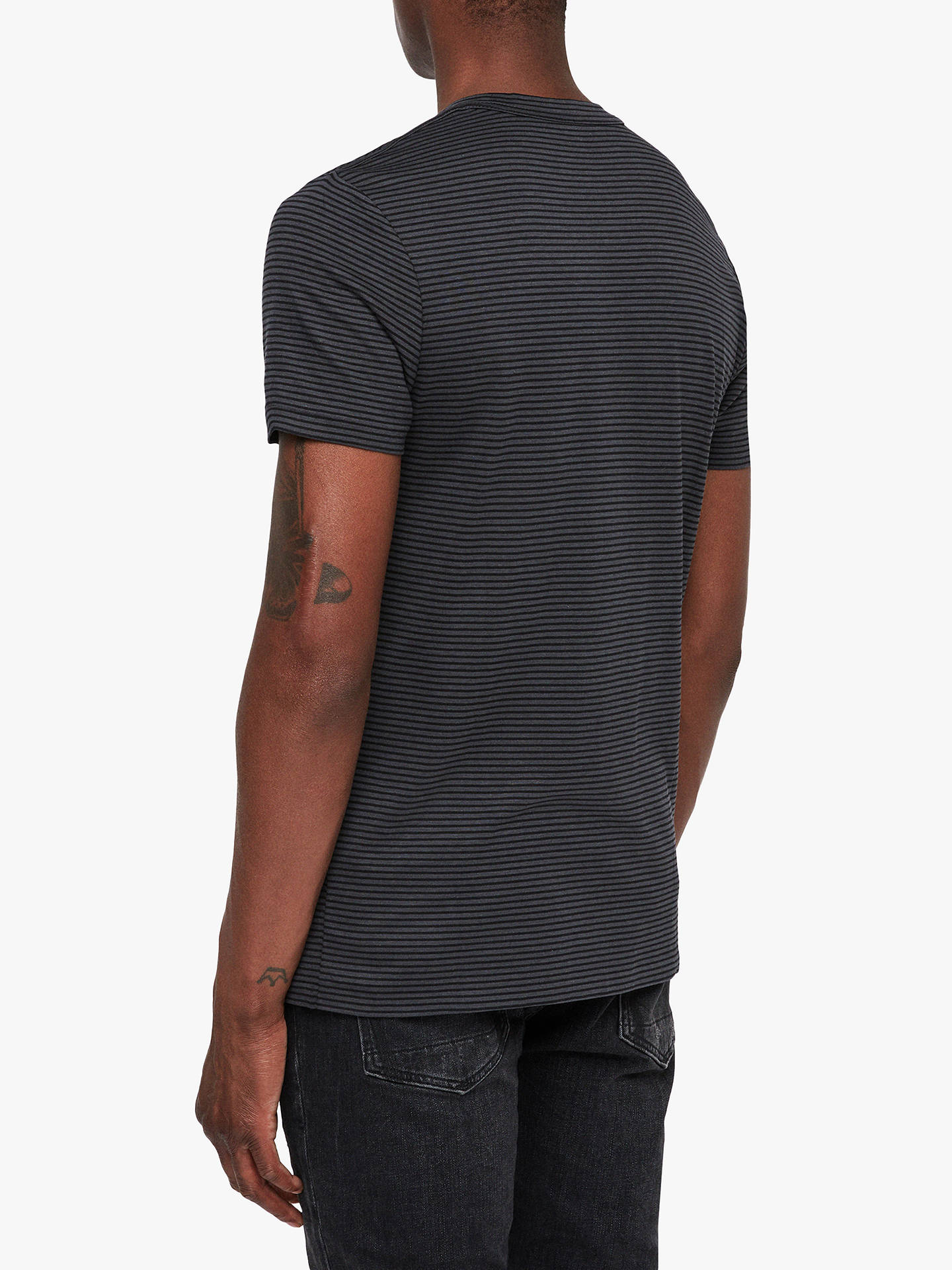 BuyAllSaints Point Crew Neck T-Shirt, Washed/Jet Black, XS Online at johnlewis.com