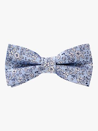 John Lewis & Partners Heirloom Collection Ditsy Floral Bow Tie, Blue