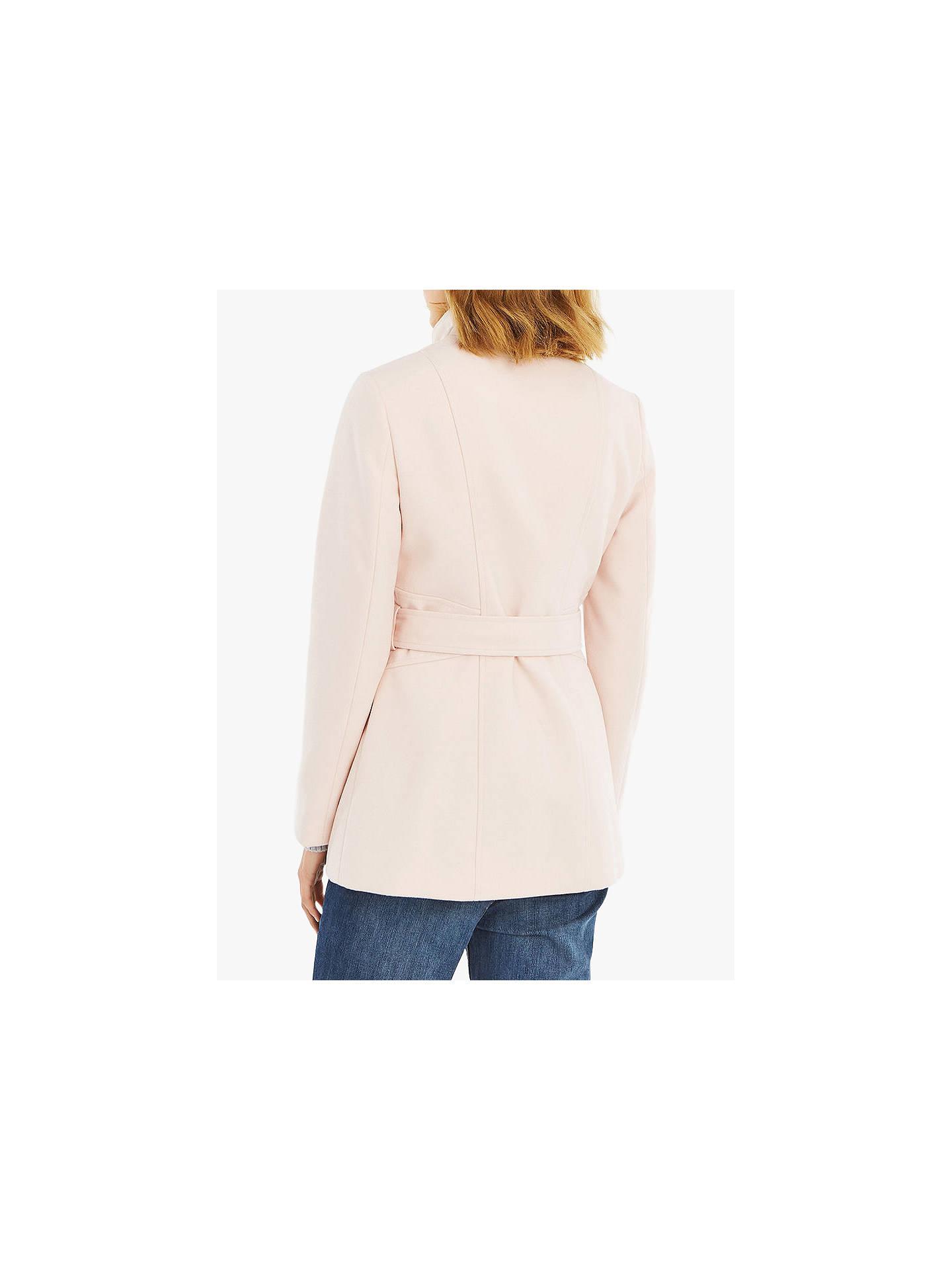 7192e2c008af ... Buy Oasis Hazel Fitted Coat, Pale Pink, S Online at johnlewis.com ...